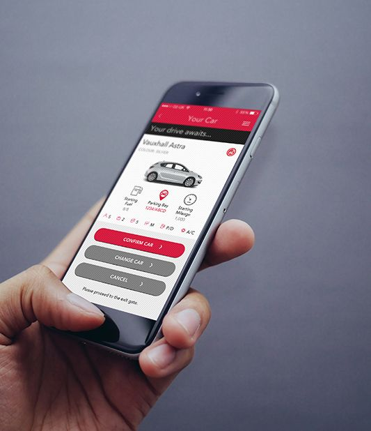Hire cars on the move with the Avis car hire app