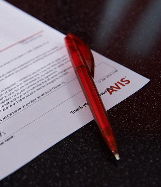 O seu contrato de aluguer de carros