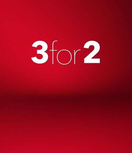 3 for 2 at weekends