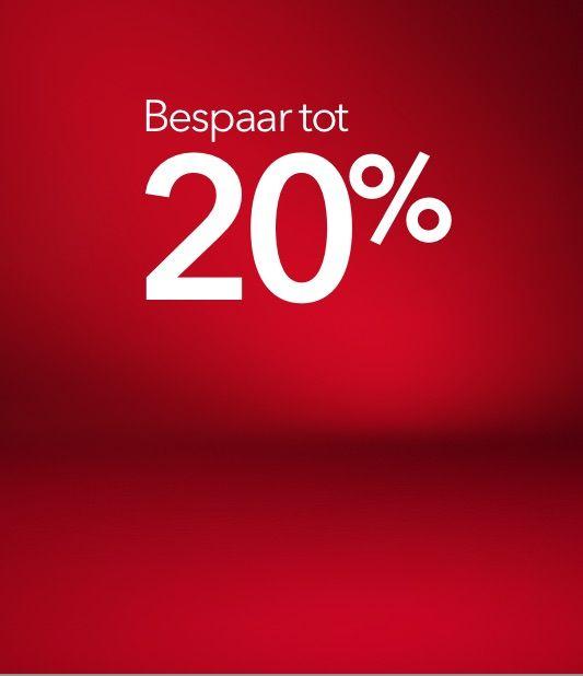 Bespaar tot 20% met onze Eindeseizoensaanbieding.