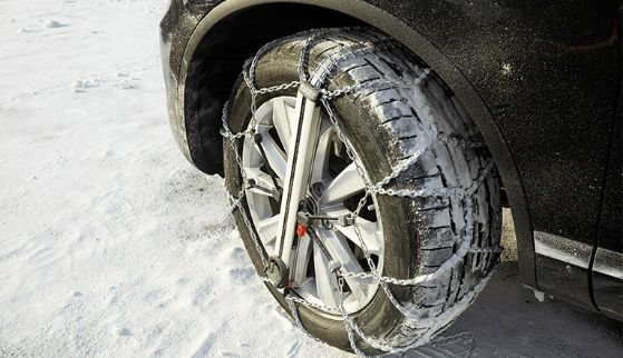Avis hire stations stock snow tyres, snow chains