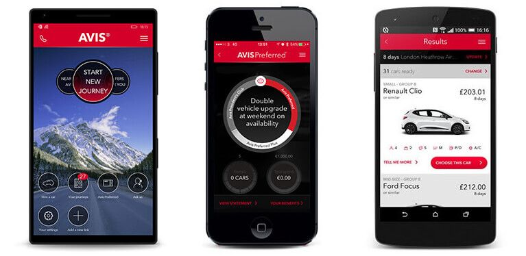 Avis Car Rental App | Future of Mobility