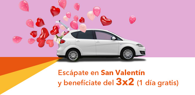 3x2 para tu fin de semana más romántico