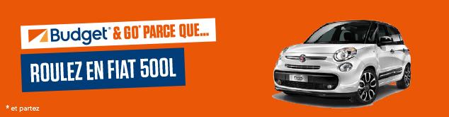 Découvrez la voiture du mois Budget : Fiat 500 L
