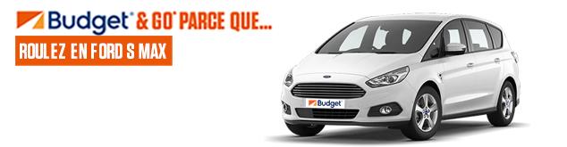 Découvrez la voiture du mois Budget : Ford S-MAX