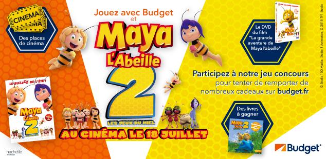 Jeu Concours Maya l'Abeille 2 avec Budget
