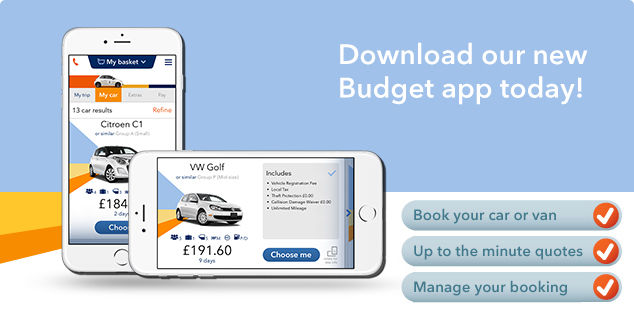 Our free car and van hire Budget iOS and Android app gives you the ability to make car and van rental reservations on the move - and much, much more.