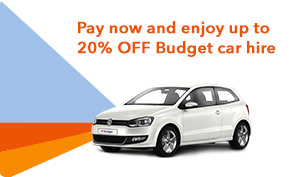 Pay now and enjoy up to 20% on Budget car hire