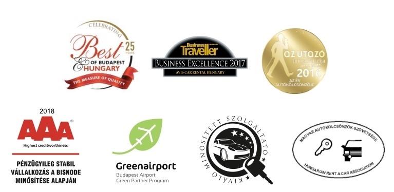 Avis Autókölcsönző elismerés, díj, tagság