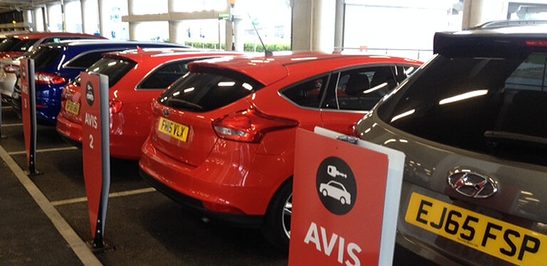 Avis priority car hire at Heathrow Terminal 2