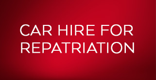 Car hire for repatriation