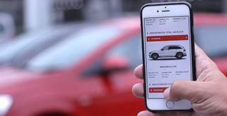 Mietwagen Wahl per App