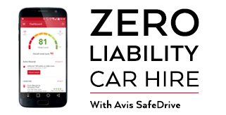 Avis Zero Liability Car Hire Offer