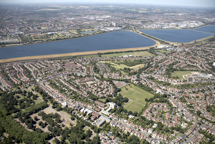 An aerial view of Enfield.