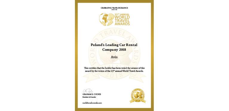 Certyfikat_Najlepsze wypożyczalnia samochodów w Polsce 2018