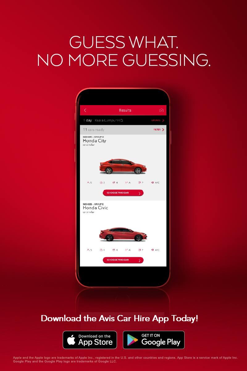 Avis Car Hire App
