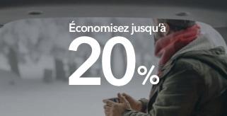 Économisez jusqu'à 20% avec notre offre de la nouvelle année